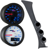 Blue MaxTow Triple Gauge Package for 1992-2002 Ford E-Series Van