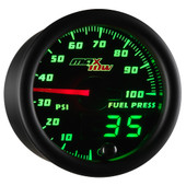 Black MaxTow Double Vision 100 PSI Fuel Pressure Gauge