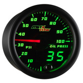 Black MaxTow Double Vision Oil Pressure Gauge