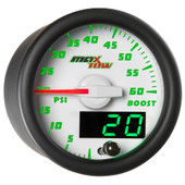White MaxTow Double Vision 60 PSI Diesel Boost Gauge