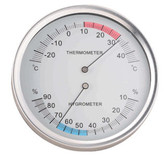 132TH Thermometer-Hygrometer (Humidity Measurement) Wall Mounted (130mm diameter)