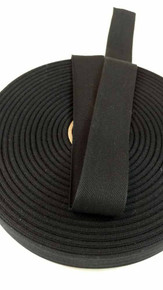 "Lightweight 1.25"" black twill tape, 72 yard roll"