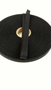 "Lightweight 5/8"" black twill tape, 72 yard roll"