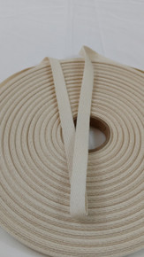"Heavyweight 1/2"" natural twill tape, 72 yard roll"