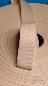 """Heavyweight 1"""" natural twill tape, 72 yard roll"""