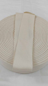 "Lightweight 1.5"" natural twill tape, 72 yard roll"