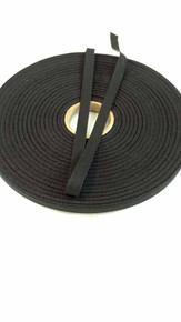 """Lightweight 3/8"""" black twill tape, 72 yard roll"""