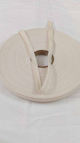 "Lightweight 3/8"" natural twill tape, 72 yard roll"