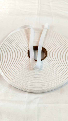"Lightweight 3/8"" white twill tape, 72 yard roll"