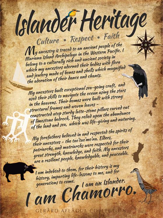 Island Heritage I Am Chamorro Fine Art Poster