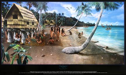 Guam Gifts Guam Art Chamorro Village Illustration Gerard Aflague Collection
