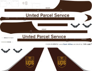 1/200 Scale Decal UPS 747-200F