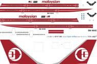 1/200 Scale Decal Malaysian 747-300