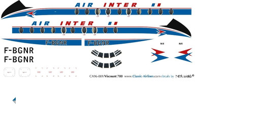 1/96 Scale Air Inter Viscount 700