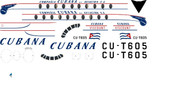 1/96 Scale Decal Cubana Viscount 700