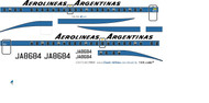 1/72 Scale Decal Aerolineas Argentinas YS-11