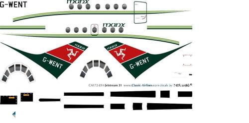 1/72 Scale Decal Manx Jetstream 31
