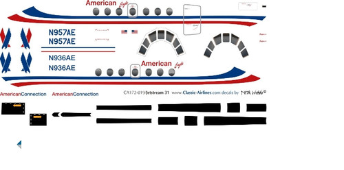 1/72 Scale Decal American Eagle Jetstream 31
