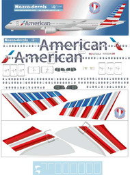 1/200 Scale Decal American A350-900