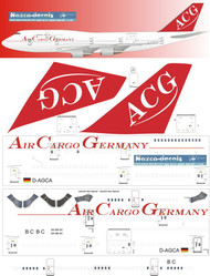 1/200 Scale Decal ACG - Air Cargo Germany 747