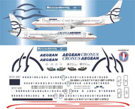 1/144 Scale Decal Aegean 737-300 / 400