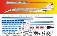1/144 Scale Decal Aeroflot TU-144 Demo 1972