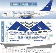 1/144 Scale Decal Aerolineas Argentinas 737-200