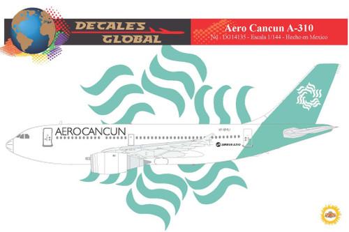 1/144 Scale Decal AeroCancun A-310