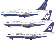 1/144 Scale Decal Aero Peru 737-200 Experimental V1