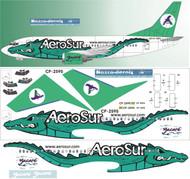 1/144 Scale Decal AeroSur 737-300 Alligator Livery