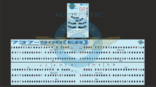 1/144 Scale Decal Lifelike Cockpit / Windows / Doors 737-900