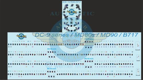 144 Scale Decal Lifelike Cockpit / Windows / Doors DC-9 / MD-80 / B-717