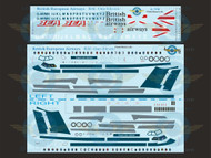 1/72 Scale Decal BEA / British Airways BAC111-500 With Lifelike Cocipit / Windows
