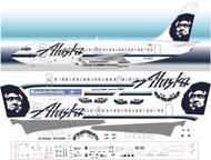 1/144 Scale Decal Alaska 737-200 With Cargo Door
