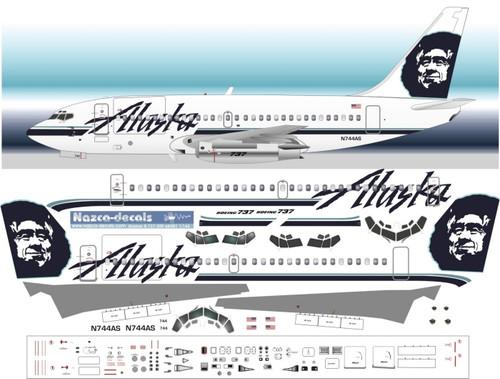 1 72 Scale Decal Alaska 737 200 With Cargo Door