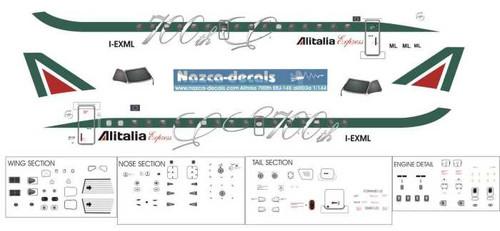 1/144 Scale Decal Alitalia Express ERJ-145 700th ERJ