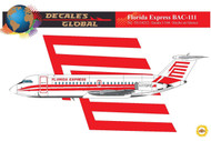 1/144 Scale Decal Florida Express BAC-111