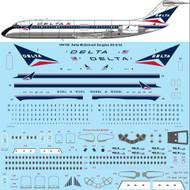 1/144 Scale Decal Delta McDonnell Douglas DC-9-32