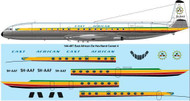 1/144 Scale Decal  East African Airways DeHavilland Comet 4