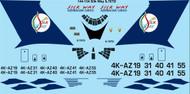 1/144 Scale Decal Silk Way Ilyushin IL-76TD