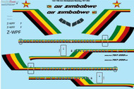 1/144 Scale Decal Air Zimbabwe Boeing 767-200