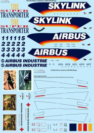 1/144 Scale Decal Airbus Beluga A300-600 Factory Livery