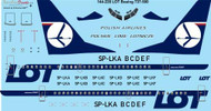 1/144 Scale Decal LOT Polish Airlines Boeing 737-500