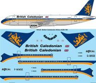 1/144 Scale Decal British Caledonian Airbus A320