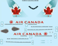 144-299 Air Canada Airbus A340-300 laser decal