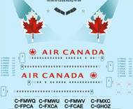 1/144 Scale Decal Air Canada Boeing 767-300