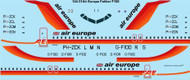 1/144 Scale Decal Air Europe Fokker 100