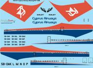 1/144 Scale Decal Cyprus Airways Boeing 707-123B