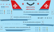 1/144 Scale Decal Air Malta Airbus A320