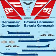 1/144 Scale Decal Germanair / Bavaria Germanair Airbus A300B4